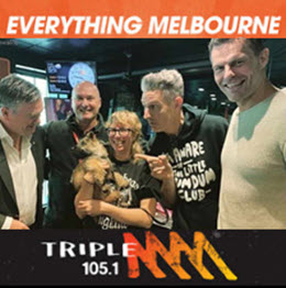 Ian the Dog Trainer on Triple M's Hot Breakfast show in 2019